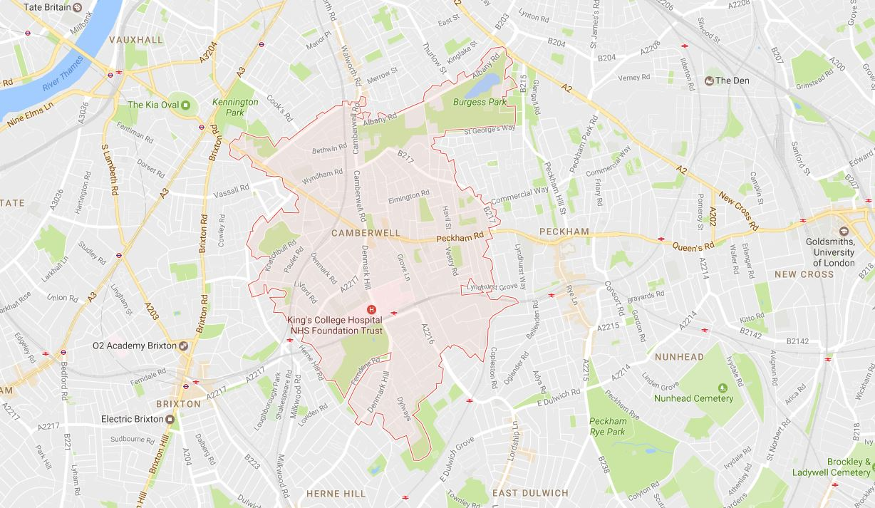 Camberwell SE5 Map