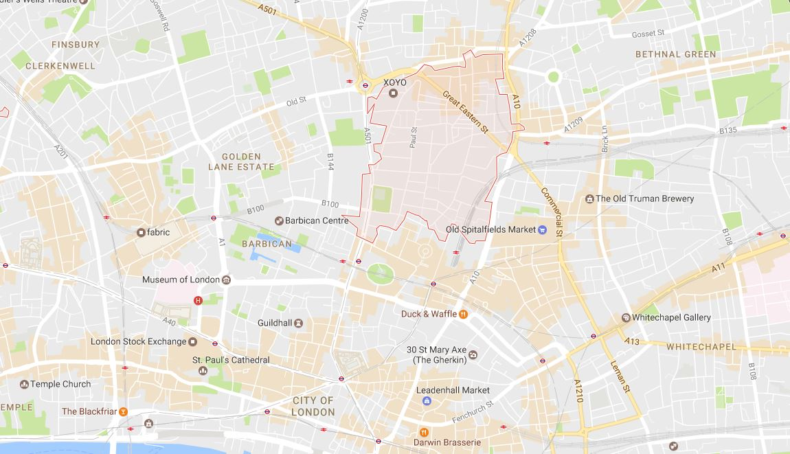 City of London EC2 Map