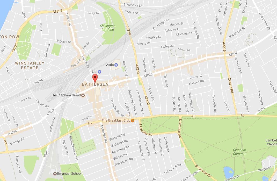 Battersea SW11 Map