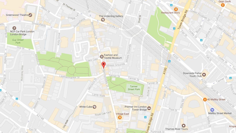 Bermondsey SE1 Map