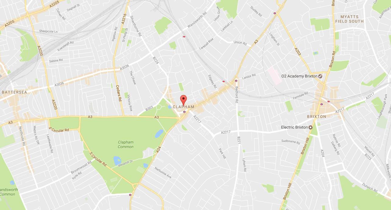 Clapham SW4 Map