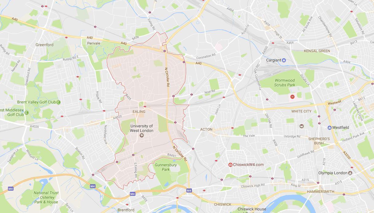 Ealing W5 Map