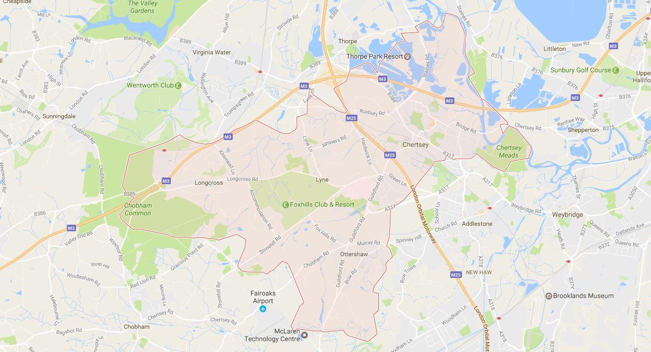 Chertsey KT16 Map
