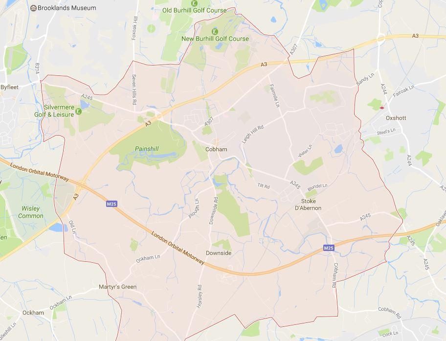 Cobham KT11 Map