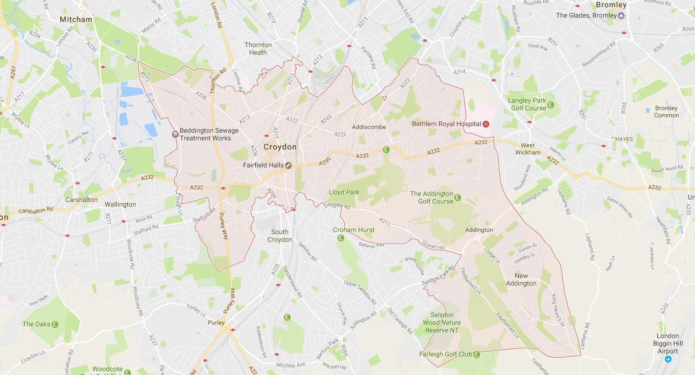 Croydon CR0 Map