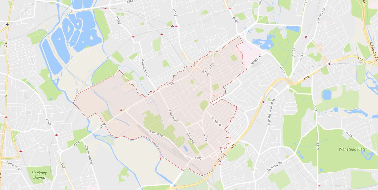 Waltham Forest E10 Map