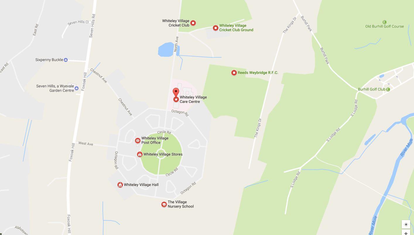 Whiteley KT12 Map
